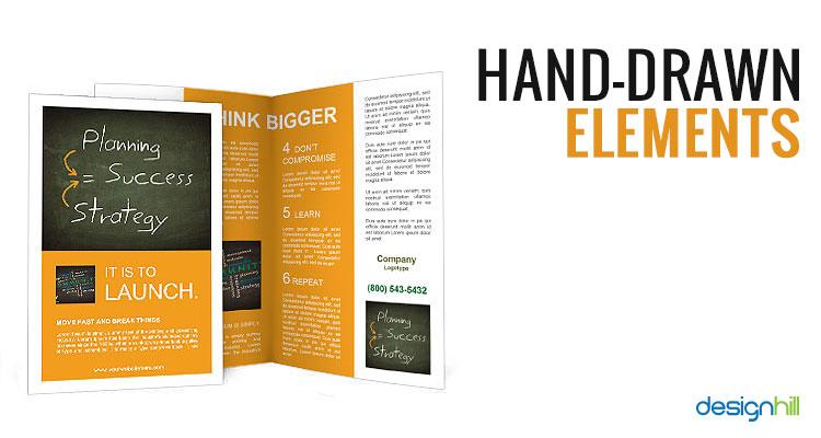 in brochure kết hợp với thủ công