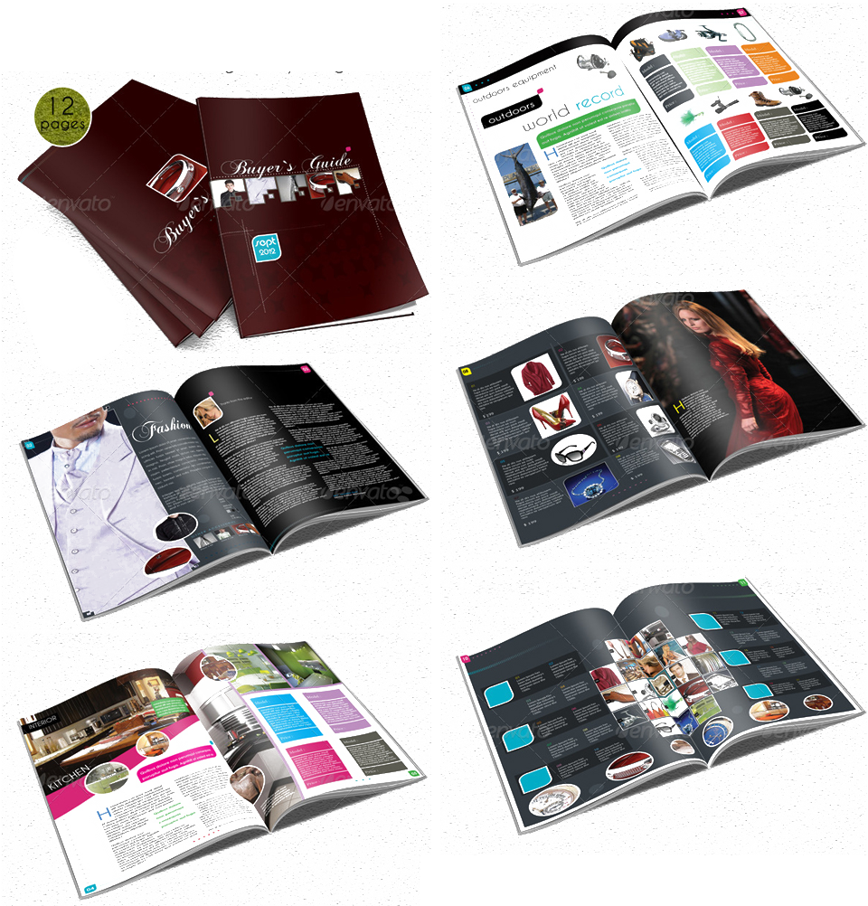 Catalogue có hình dáng như một tập sách