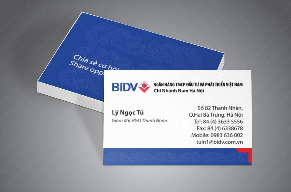 In card visit cá nhân thiết kế theo bộ nhận dạng thương hiệu doanh nghiệp