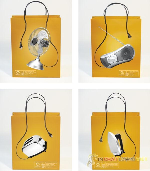 Túi giấy kèm dây điện