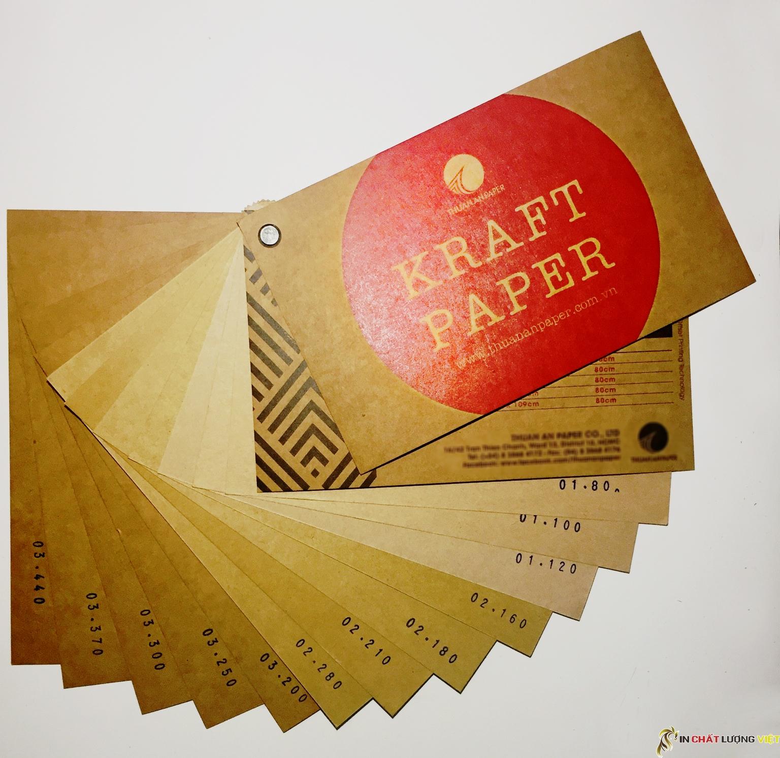 Đặc điểm giấy kraft - Một số mẫu giấy kraft