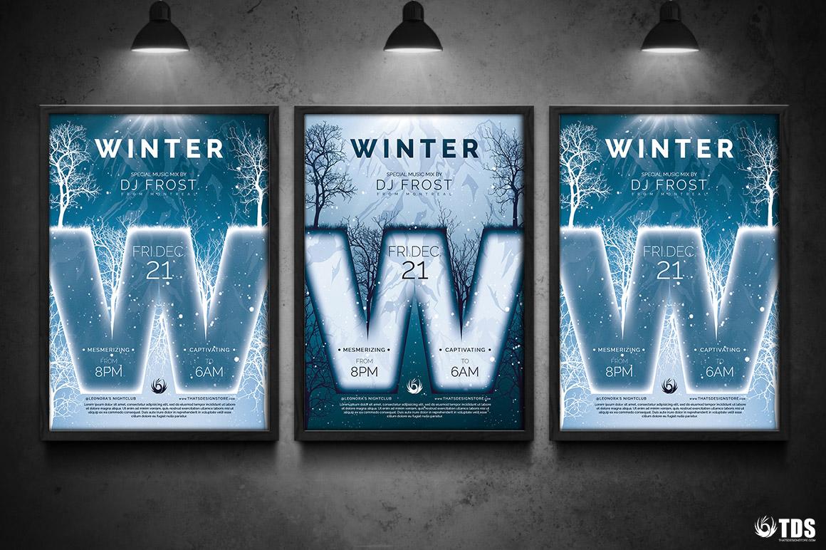Tờ rơi thiết kế theo mùa - Mùa đông