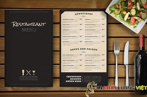 Với những nhà hàng sang trọng, dành cho khách hàng cao cấp thì  một tấm menu xứng tầm là điều cần thiết