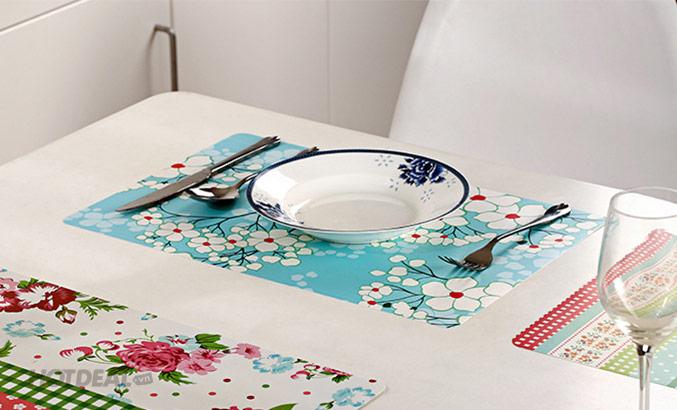 in nhựa tấm lót bàn ăn mát mẻ
