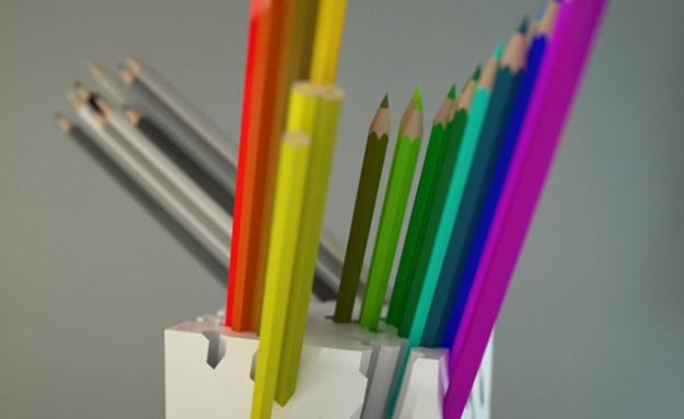 ấn phẩm bút chì  đa sắc