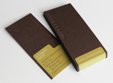 in card visit hcm- lấy cảm hứng từ thỏi socola !