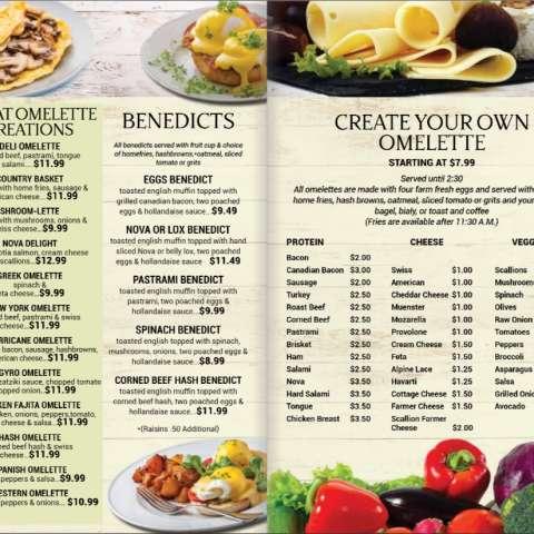 in ấn phẩm menu breakfast phú mỹ hưng