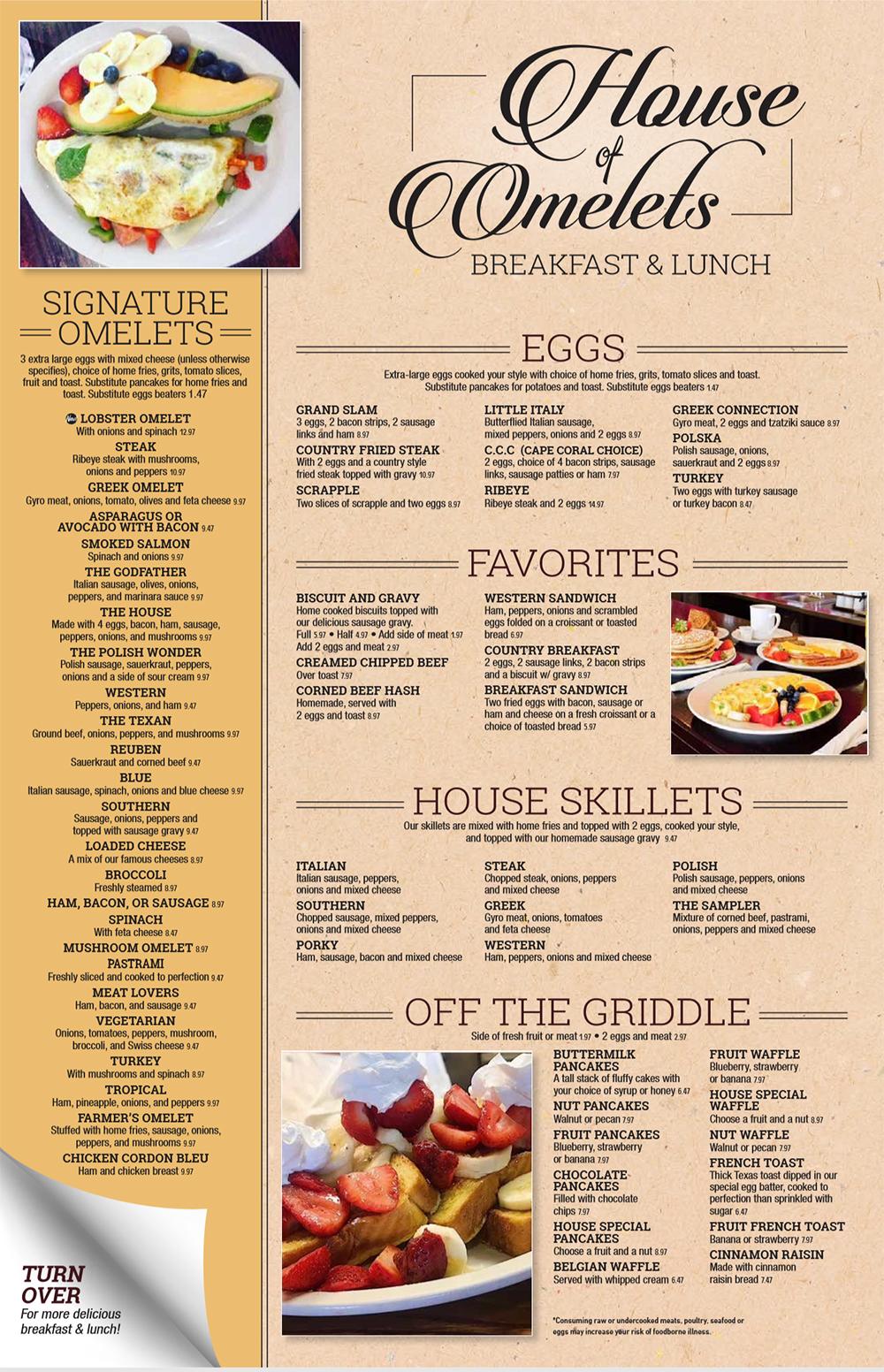 in ấn phẩm menu breafast