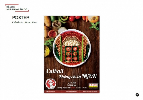 in poster quận 7- quảng cáo món ngon ấn độ