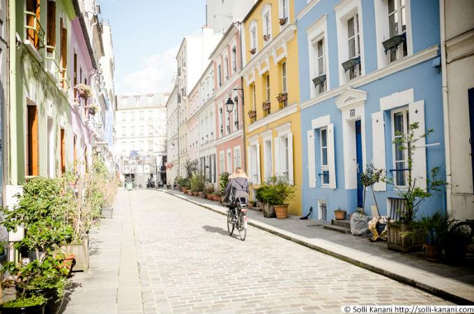 một góc phố phường paris